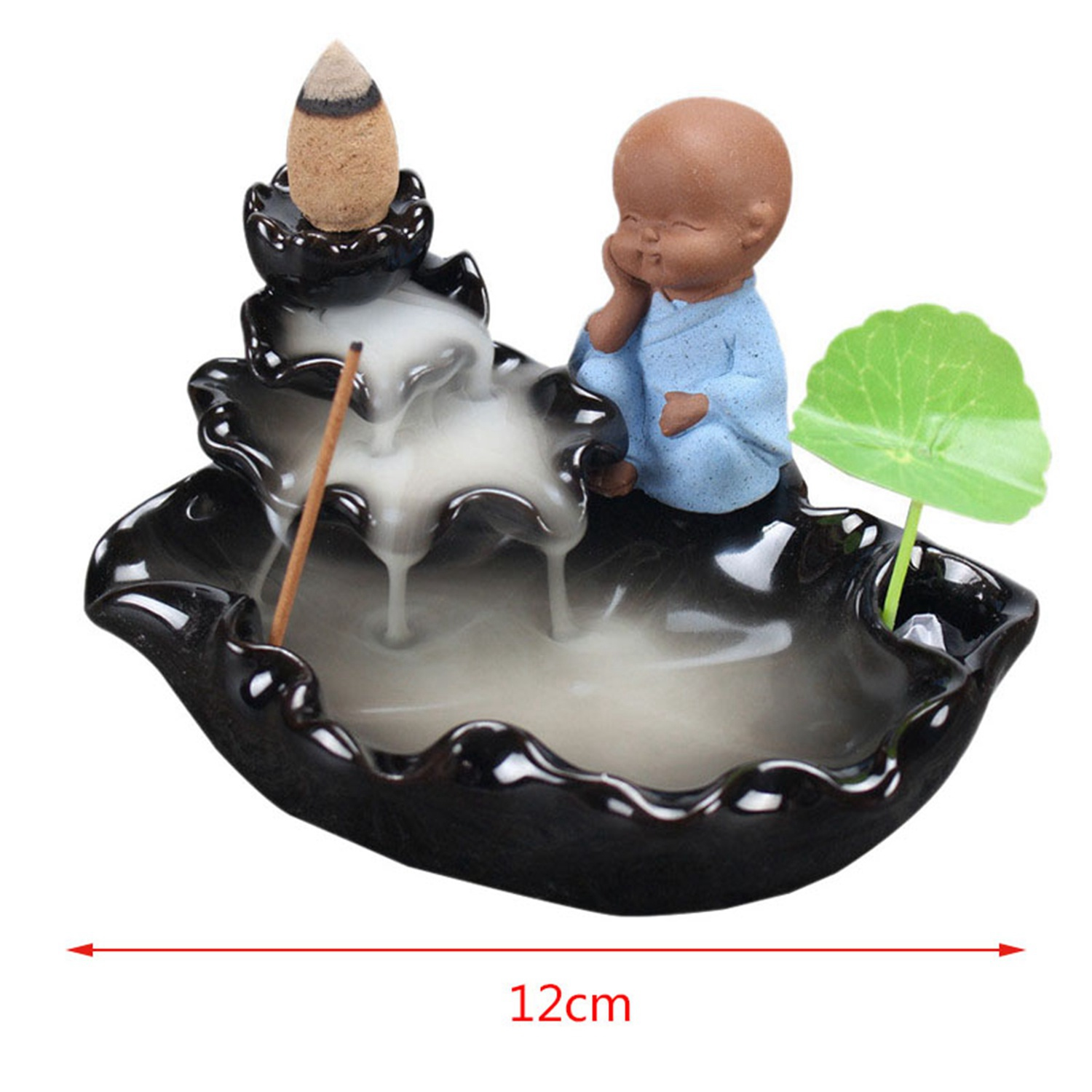 1x Little Monk Backflow Incense Burner Ceramic Cone Waterfall Incense 50 Piece Natural Backflow Buddha Cone Incense Buy Online At Best Prices In Pakistan Daraz Pk
