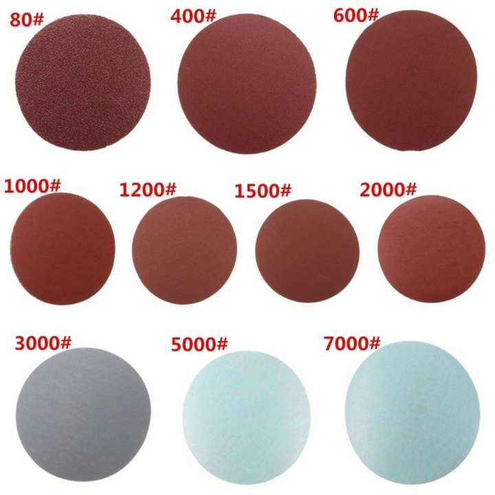 "50x Sanding Discs Sanding Polishing Pad Flocking Sandpaper 3"" 7.6cm 5000#"