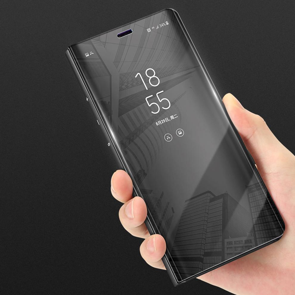 Samsung Note 9 Clear Mirror View & Stand Function Flip Cover case