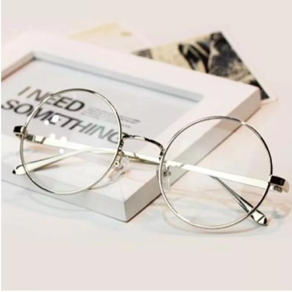 Round silver Frame Sun Glasses for Girls/Men