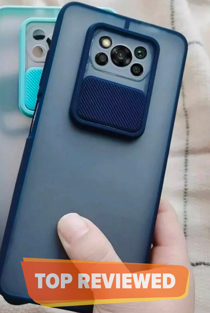 Camera Protection Case For Xiaomi Poco X3/Poco X3Pro  Soft Tpu Window Slide Case