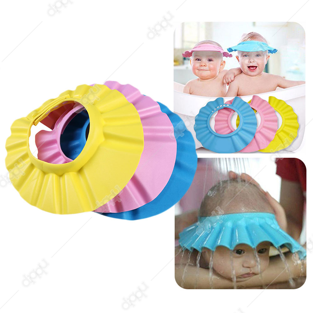 Baby Shower Cap Soft and Adjustable Protect Children Kid Shampoo Bath Wash Hair Hat Waterproof Prevent Water Into Ear Soft