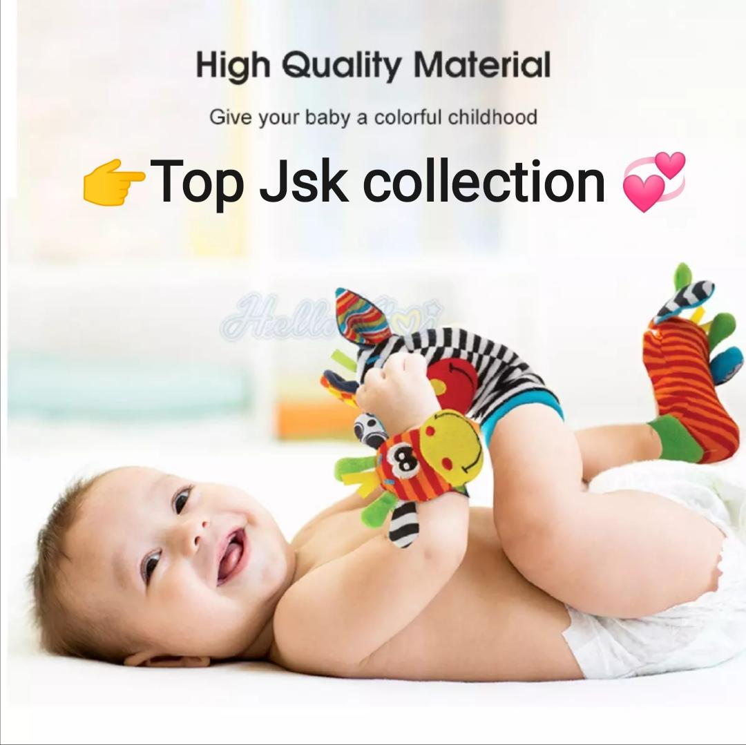 4 Pcs/Set Baby Rattle Stuffed Toy wrist Socks Animal Cute Cartoon Baby Socks