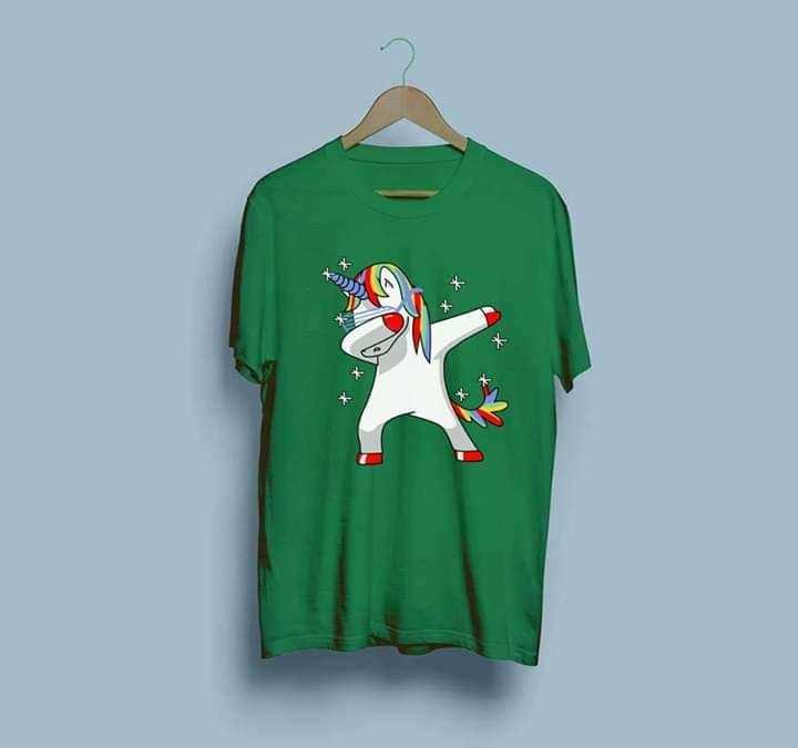 Dubbing Unicorn Half Sleeves T-Shirt For Women