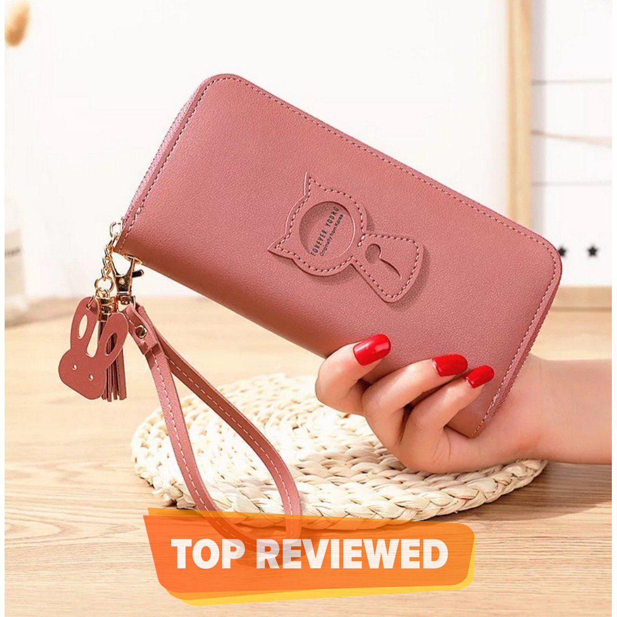 New Long Women Wallet Buckle Coin Purse Soft Card Holder Position Phone Bag Hand Clutch Womens Wallets and Purses