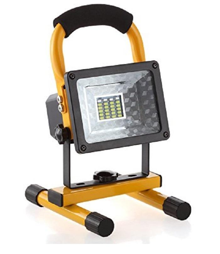30 W Round Portable Hi Power White LED Work Light Rechargeable Flood Light,  Light for Outdoor Camping Hiking Car Repairing Workshop Etc