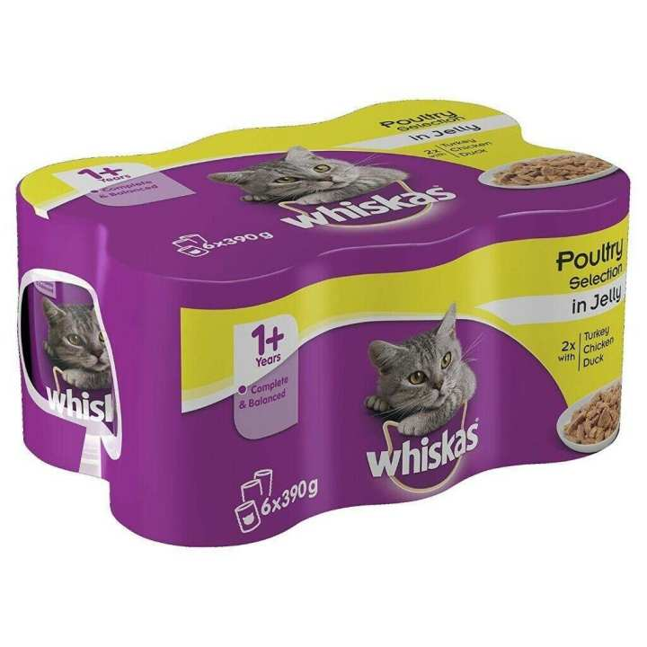 Pack of (6) Whiskas Chicken in Jelly Cat Food