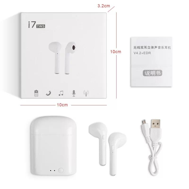 I7S TWS Wireless Bluetooth Earbuds with Charging Box Apple Airpods - White