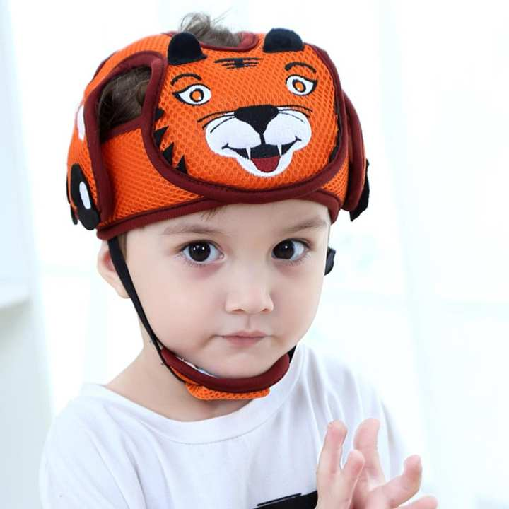Baby Anti-Collision Adjustable Toddler Head Protection Cap Baby Safety Learn to Walk Cap Child Safety Helmet