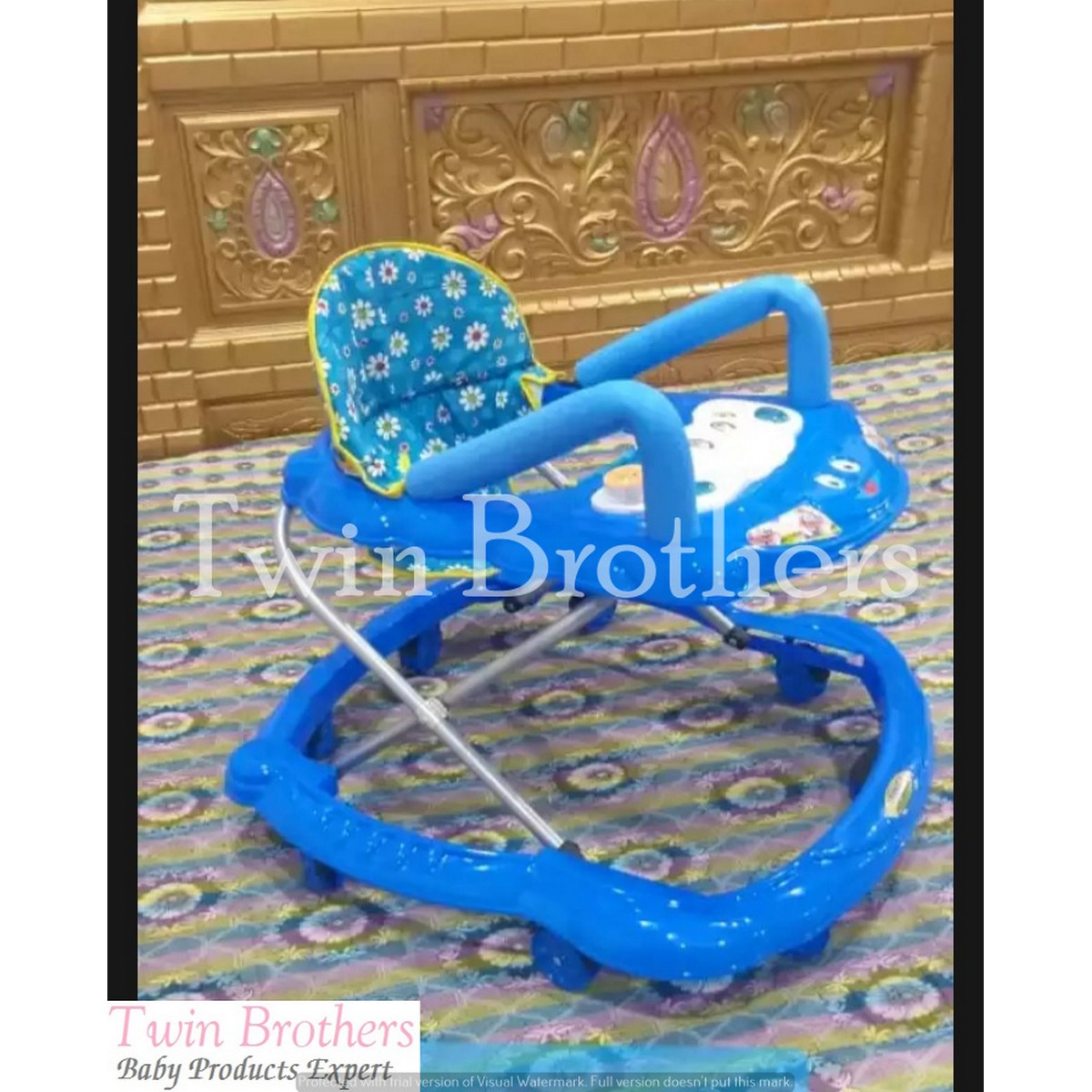 Baby Walker With Both Side Neck Support & Lights Music Product dispatch 100% Same & Quality