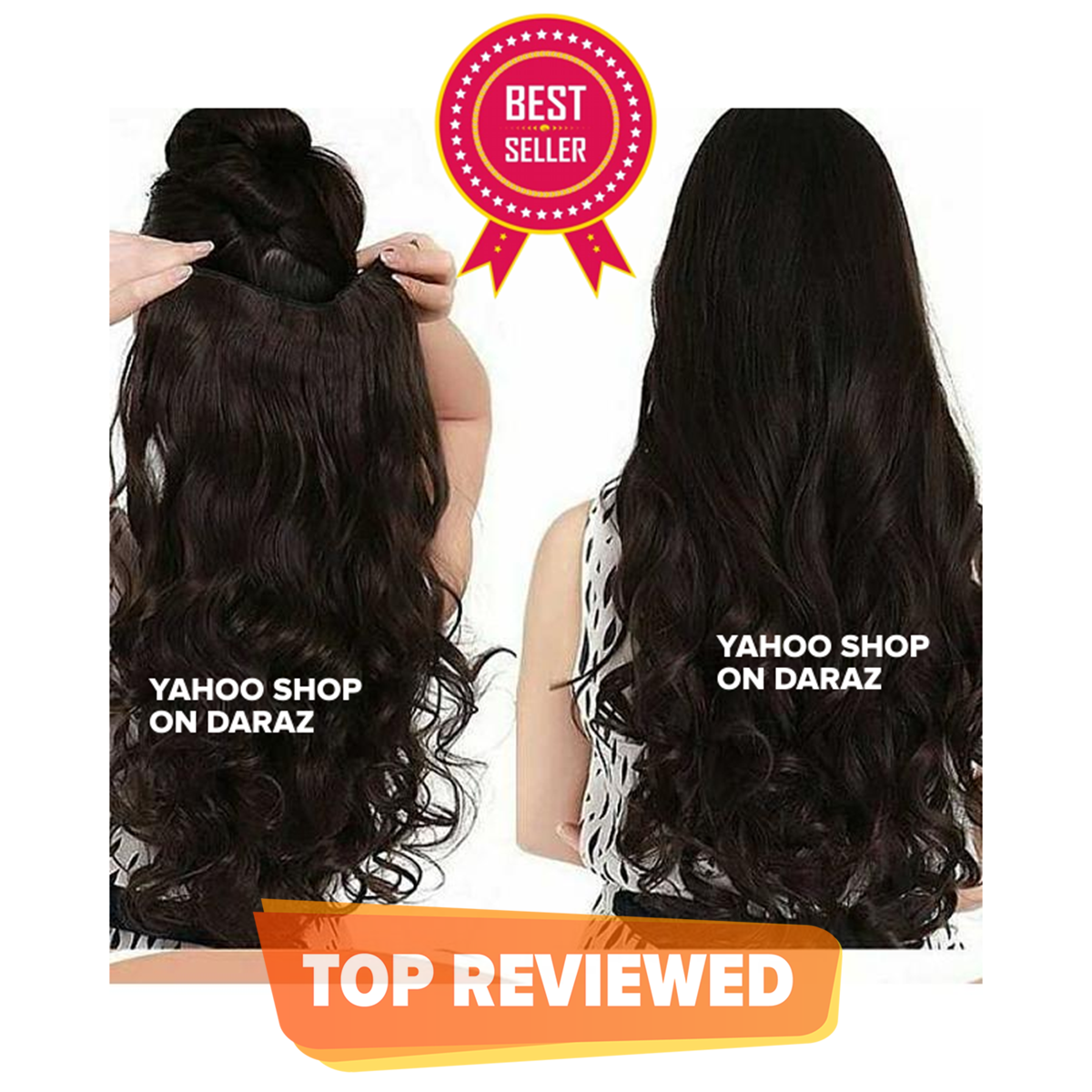 Very Long Hair Extension for Women With 5 Clips Strongly Attached No Hair Fall Washable Reuseable - Black     Makes hair look gorgeous     Easy to use     Makes hair look trendy