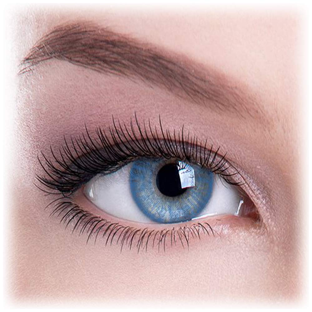 Event 3 Tone Contact Lenses Eye Wear Blue With Case
