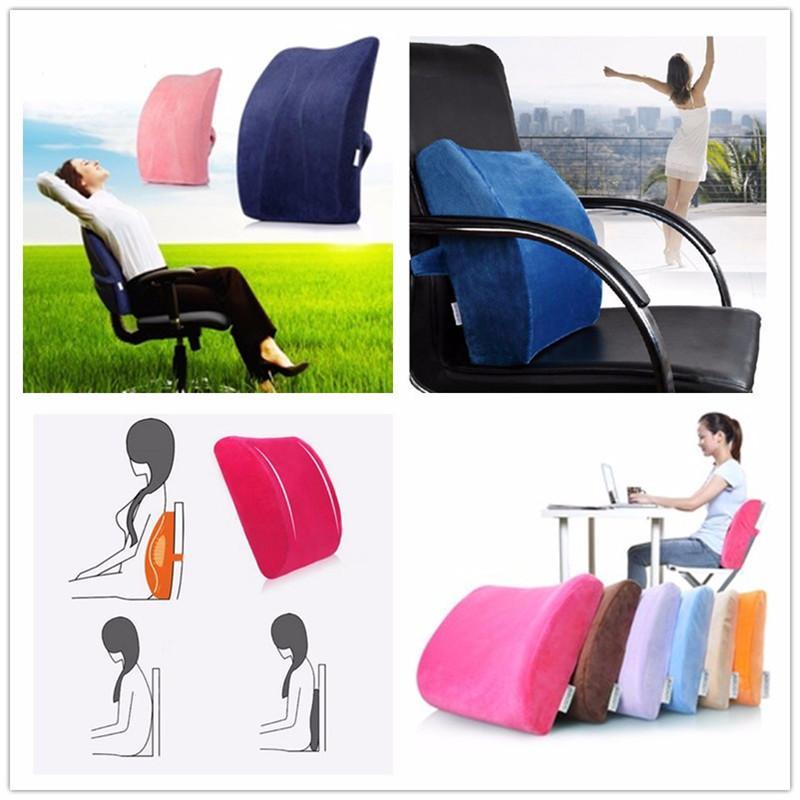 Elastic Band Plush Memory Office Chair Cushion Lumbar Back Pillow Pink Buy Online At Best Prices In Pakistan Daraz Pk