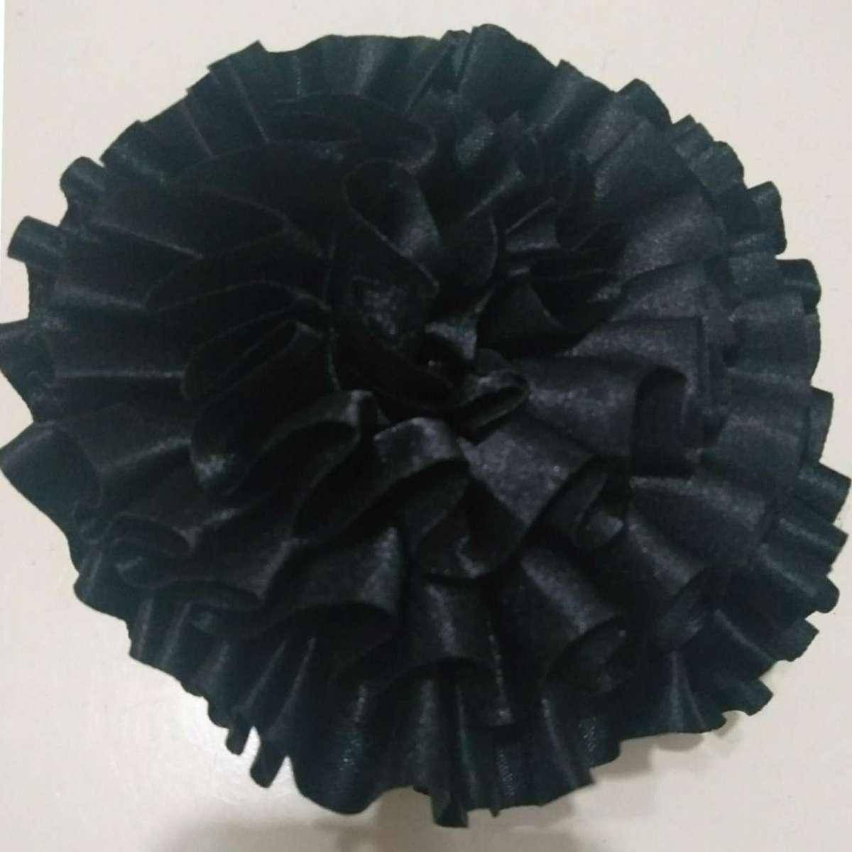 Black flower catcher for hair covering and scarf use/Head wraps