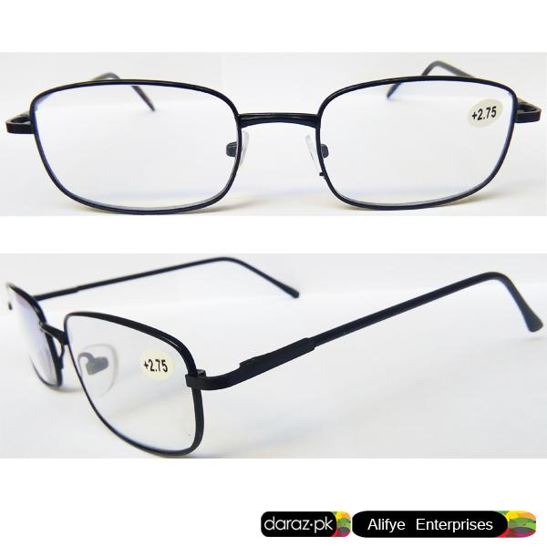 bb0688e88f42b Optical Eye Sight Glasses Metal Frame +2.75 Eye Sight - Reading Glasses -  Black Silver
