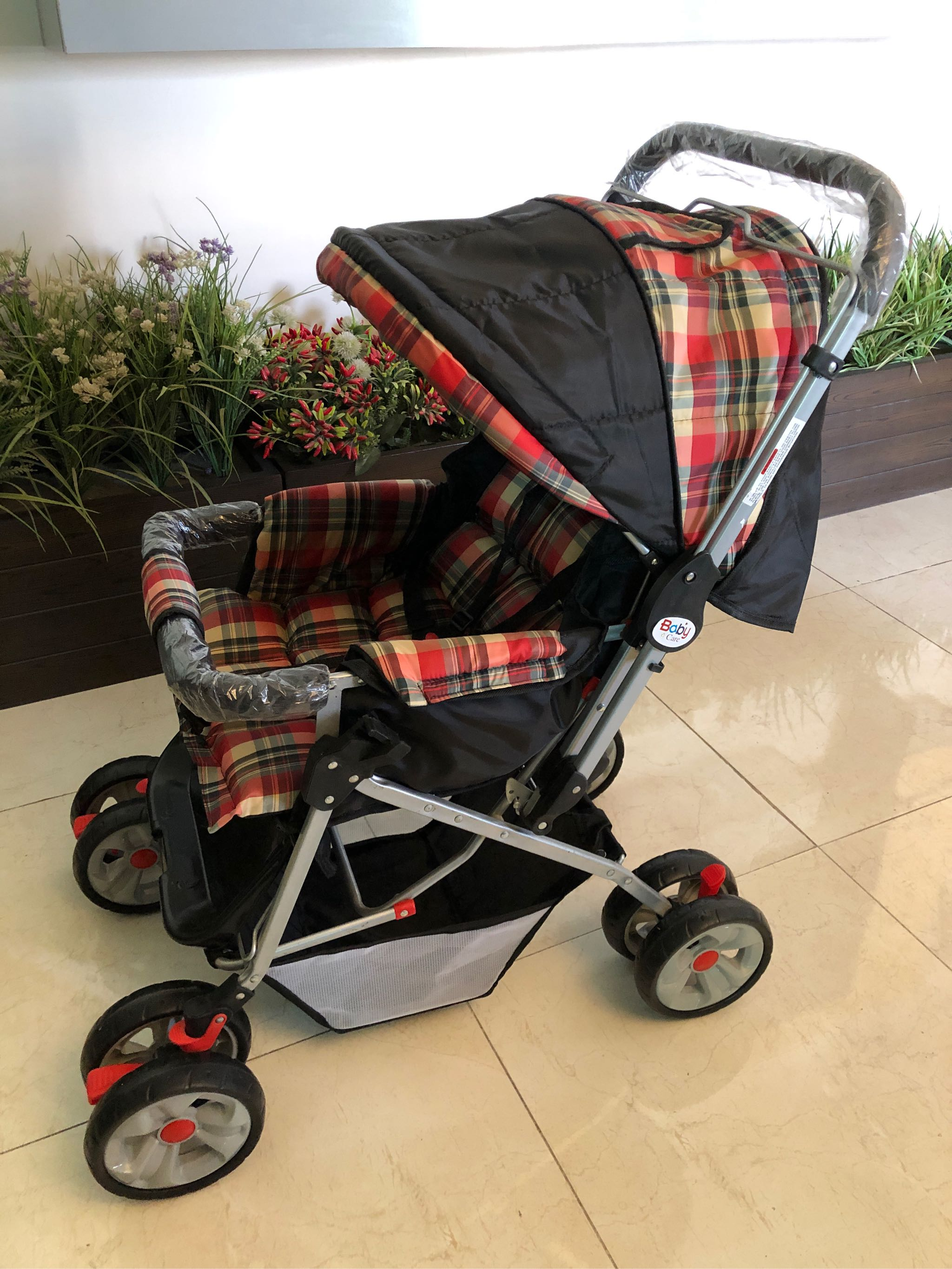 Shopify BABY PRAMS IMPORTED PRAM 8 WHEELS BABY STROLLER CHROME FOLDABLE AND SEAT ADJUSTABLE