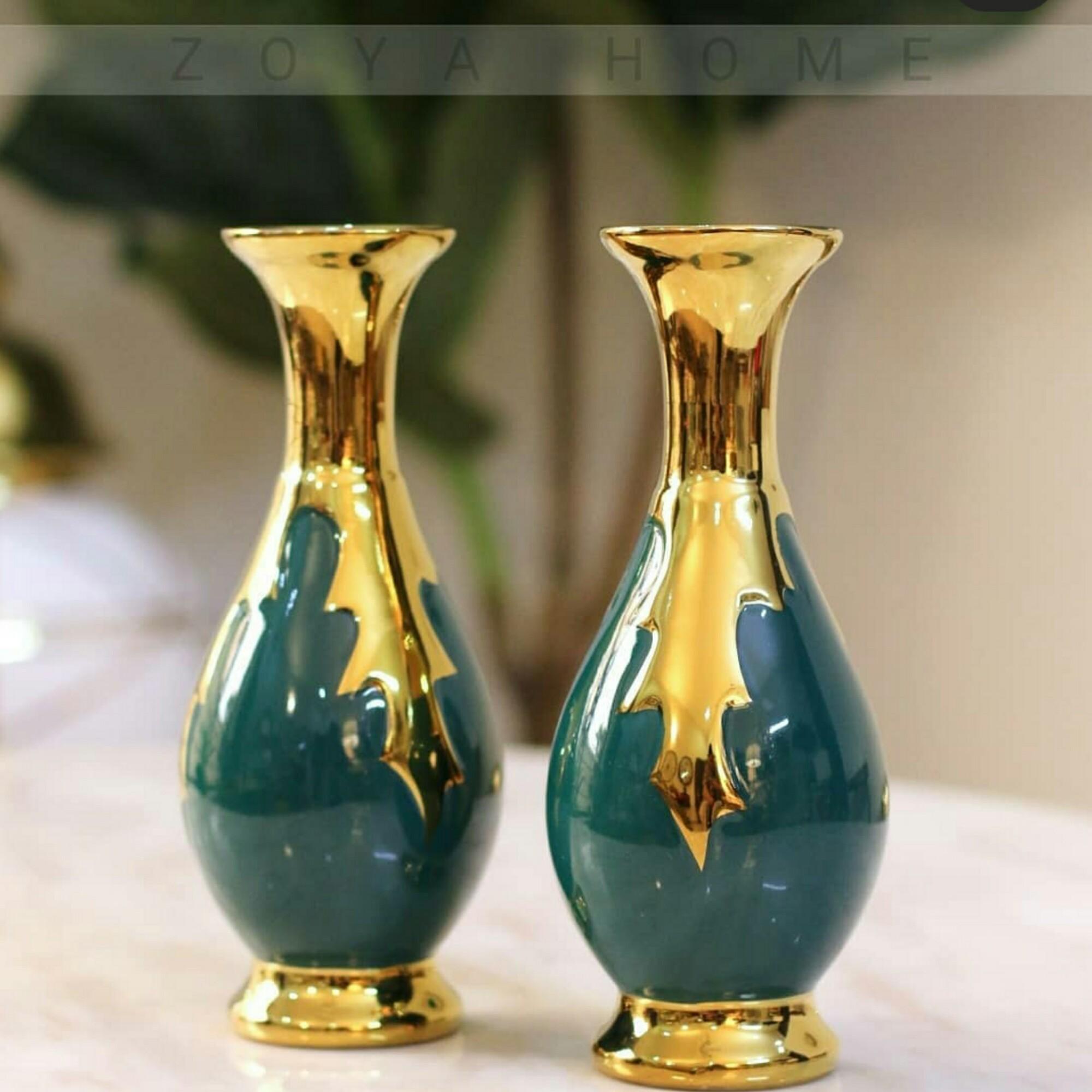 2 pieces Beautiful ceramic vase 20CM length
