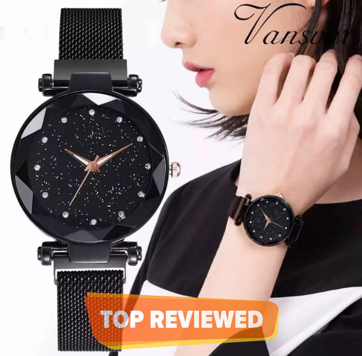 Fashion Ladies Watch Magnet Clasp Adjusting Strap Beautiful Elegant Women'S Watch
