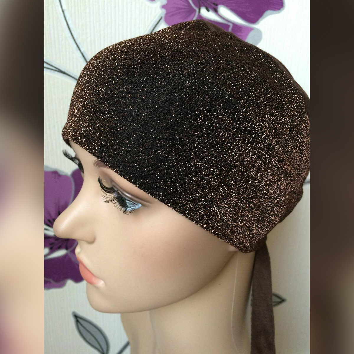 shimmer hijab /  glitter Headscarf / Inner Hijab Caps Wraps / Women Under Scarf selected colors available