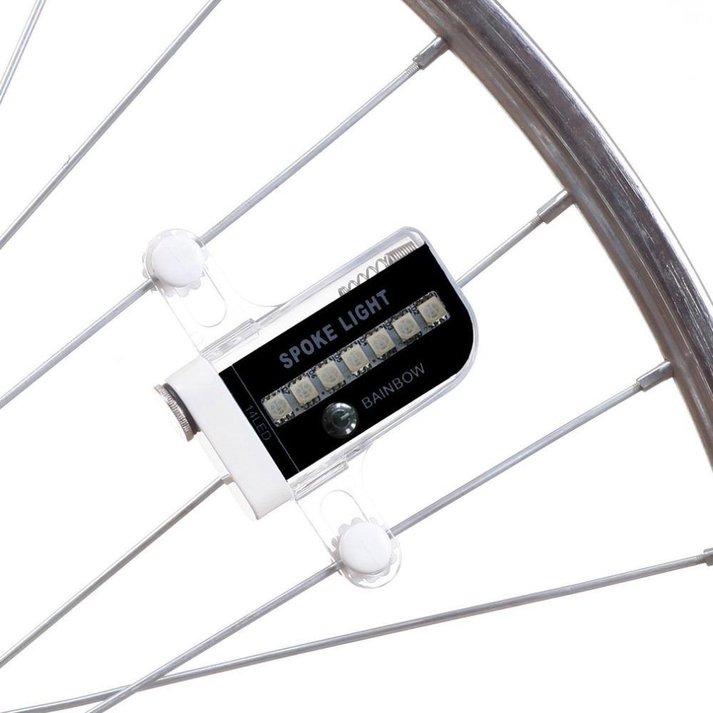 Bike Bicycle Wheel Signal Tire Spoke Super Bright 14 LED Lights