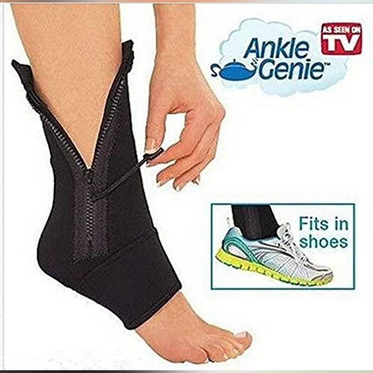 Ankle Genie Zip up Compression Support Socks