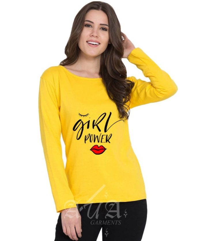 Girl Power Full Sleeves Printed T shirts For Women