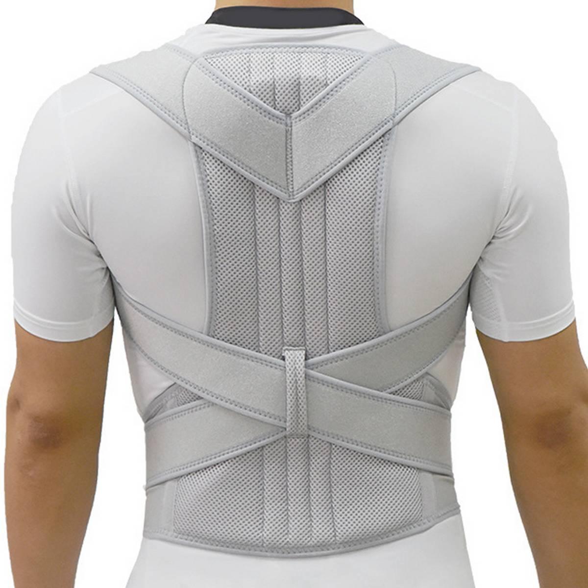 2020 Silver Posture Corrector Back Brace Spine Corset Belt Shoulder Support Posture Correction Belt For Men