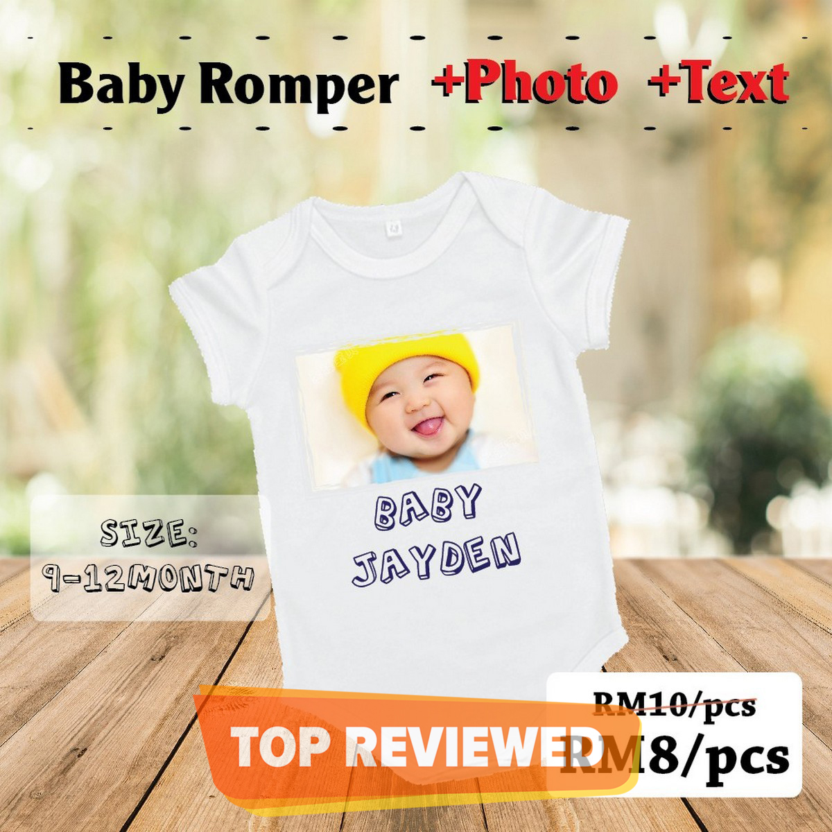 Baby Romper  with pic Printing