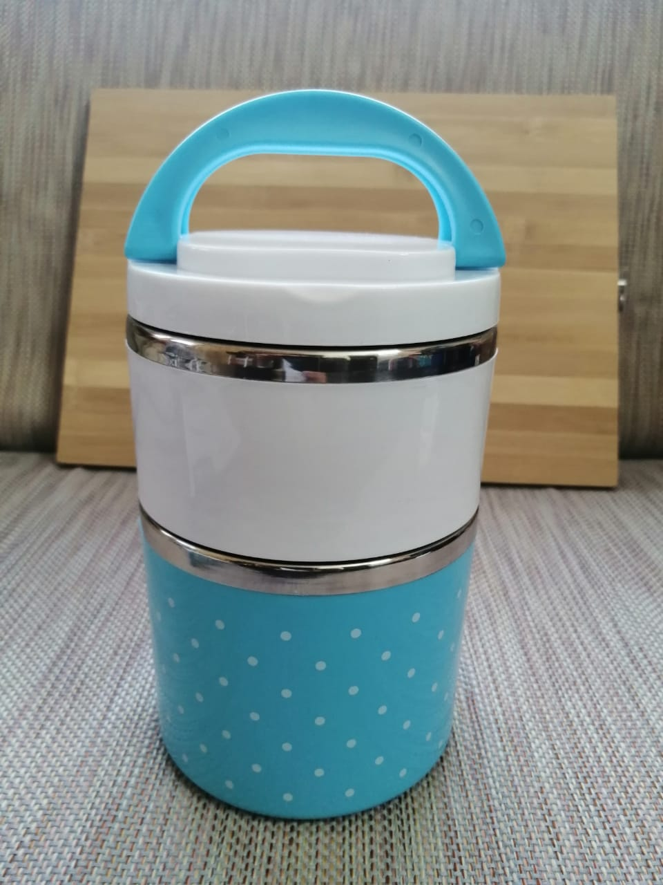 2 Layer Easy Portable Stainless Steel Office And School Lunch Box
