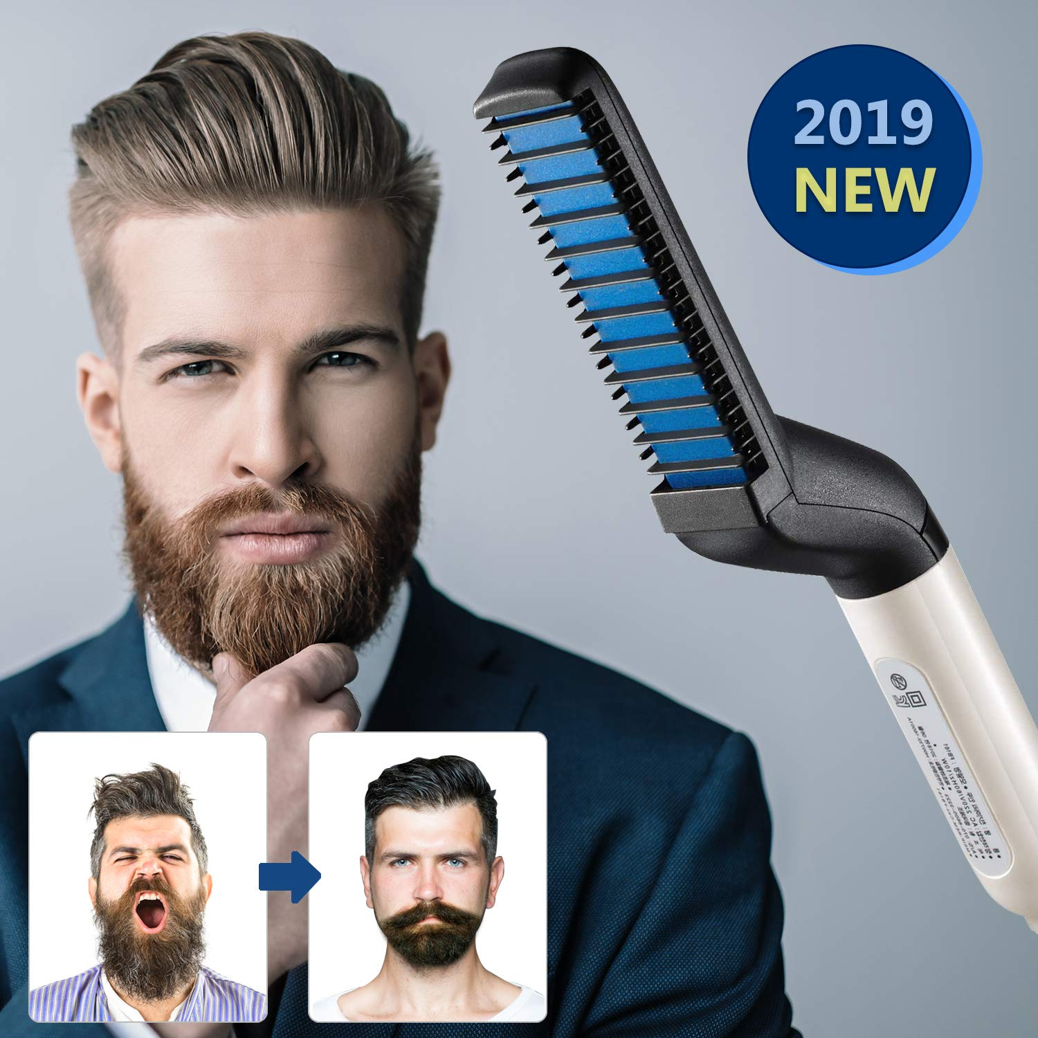 New Multi functional Hair Curling Curler Show Cap Tool Styling Accessories Men Quick Hair & Beard Straightener Styler Comb