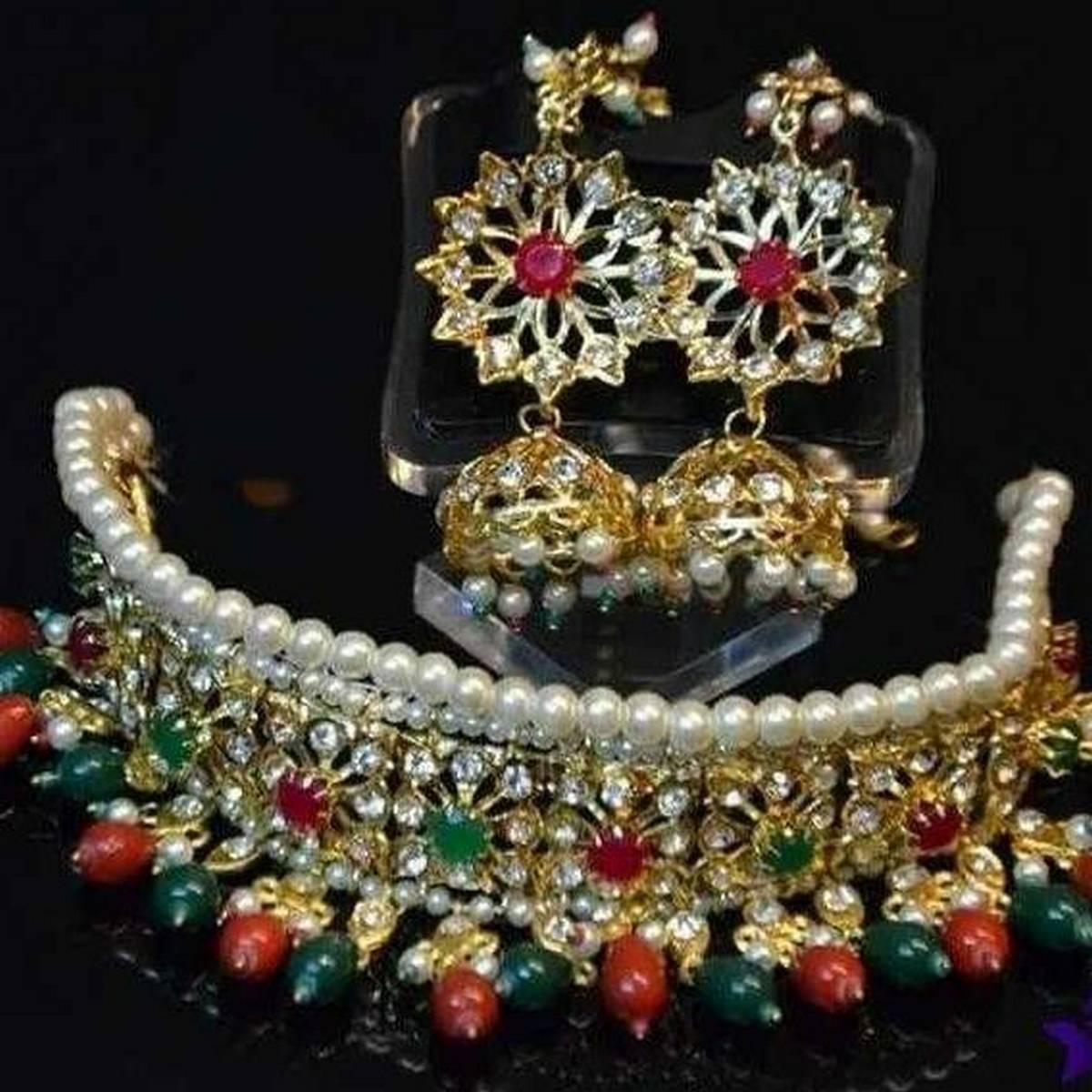Set gold plated stylish bridal with mote new design famous style long lasting polish
