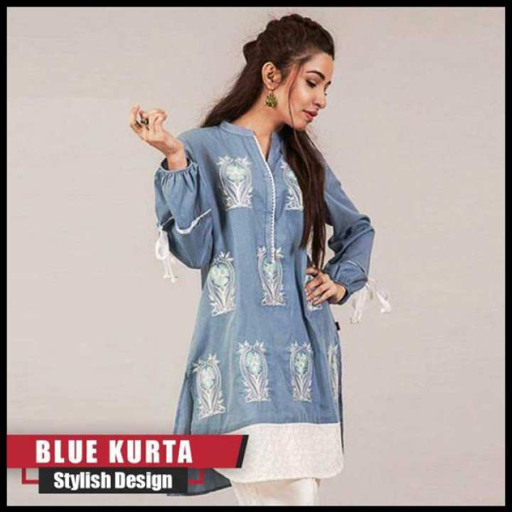 F.FASHION-BLUE KURTA FOR WOMEN