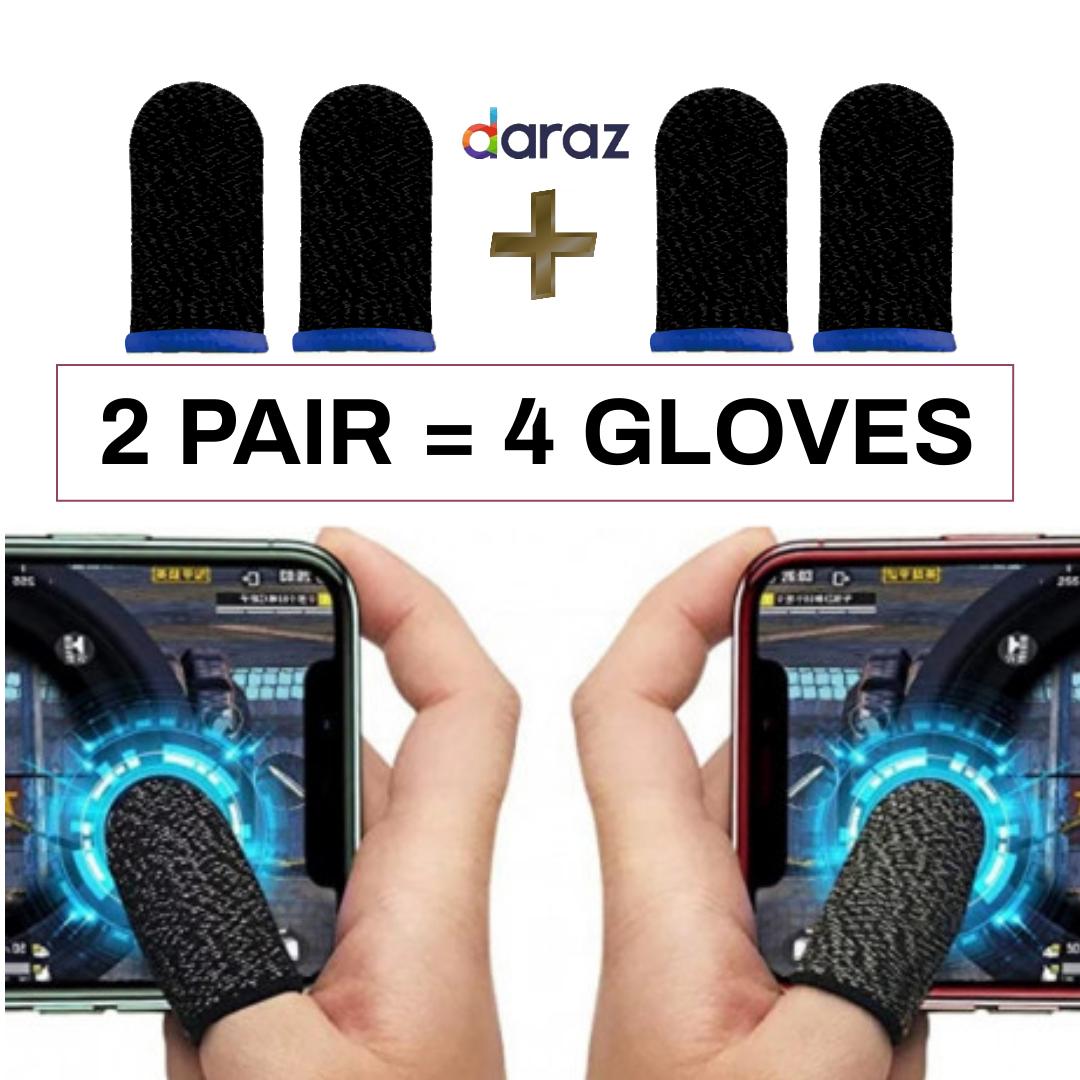 2 Pair / 4 Glove Pubg Thumb Gloves Finger Sleeve Trigger Triger For All Games