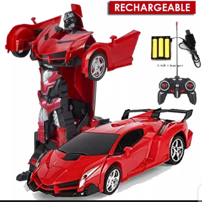2 in 1 wireless Robot Car Transformer Remote Control Car Toy Lamborghini transformer Deformation - AAA Rechargeable Batteries