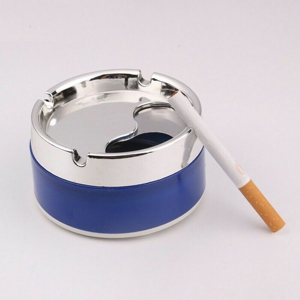 Ashtray Fancy Portable Ash Tray For Home Car & Office With Rotatable Cover Lid- Multicolor