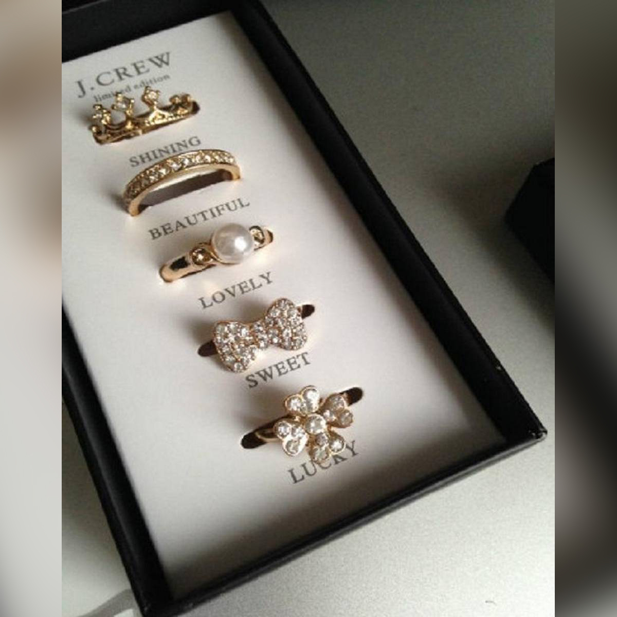 Lahore Cart Pack of 5 Rings Deal For Women