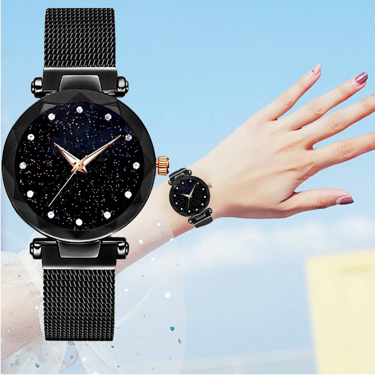 Urbane Watches Magnet Chain Watch For Women And Girls.