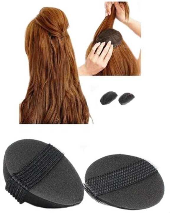 Sponge Bump It Up Volume Hair Base Styling Insert Tool Hair Accessories, Black