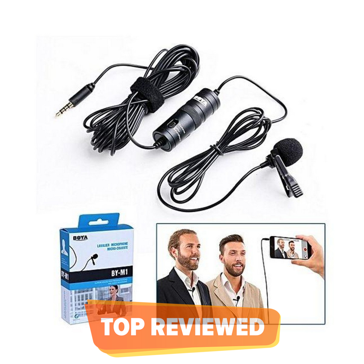 BY-M1 - Omnidirectional Lavalier Microphone for all Devices -