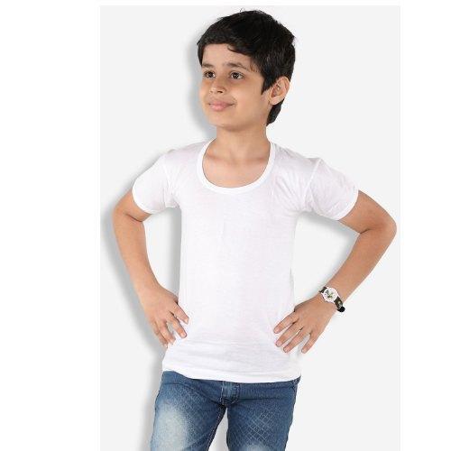 Pack of 3 -White 100% Cotton Sleeves Vest For Kids / Children Vest / Junior Vest