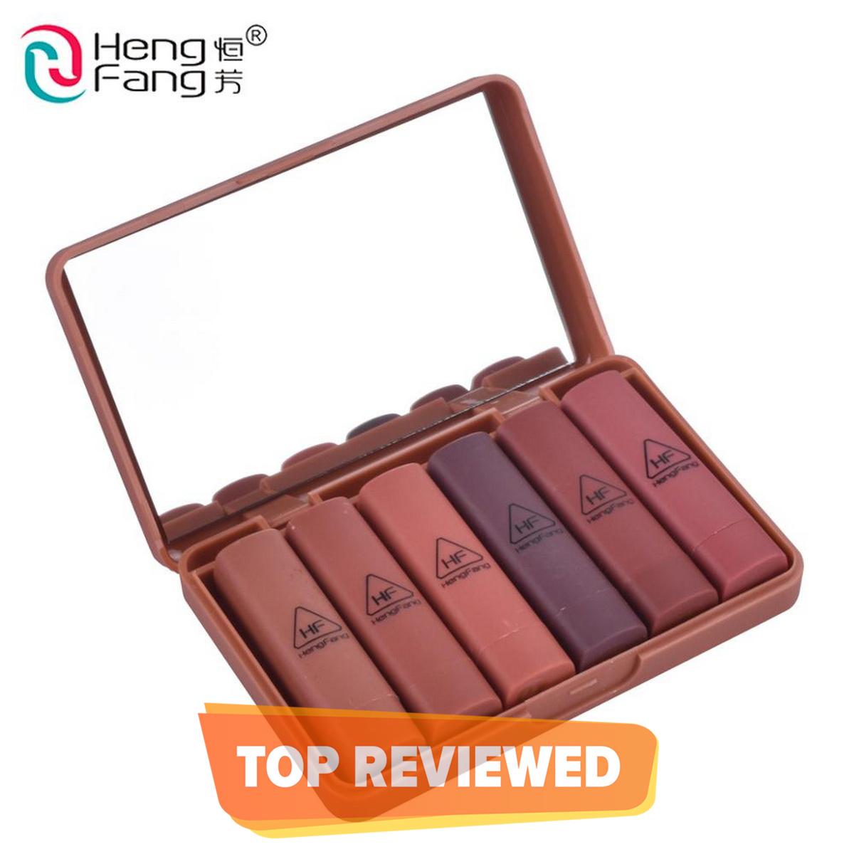 Heng Fang Mini Nude Lipstick Set 6pcs / 100 Percent Orignal & Same As Picture
