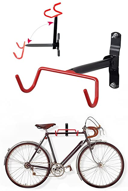 Bicycle - Wall Mount - Hook Flip Up - Bike Holding Stand