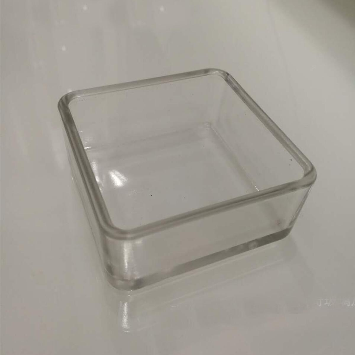 Loveliness Clear Glass Aquarium Fishes Tank Shrimp Food Dish Bowl Feeder Tray Container