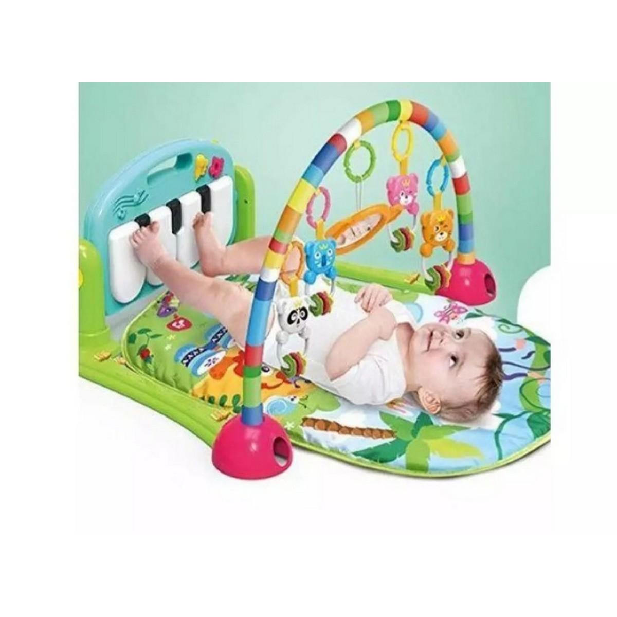 Huanger  Newborn Baby Play Gym Piano Fitness Rack Mat