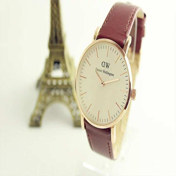 Stainless Steel Brown Band Watch for Men & Women(Best Quality)