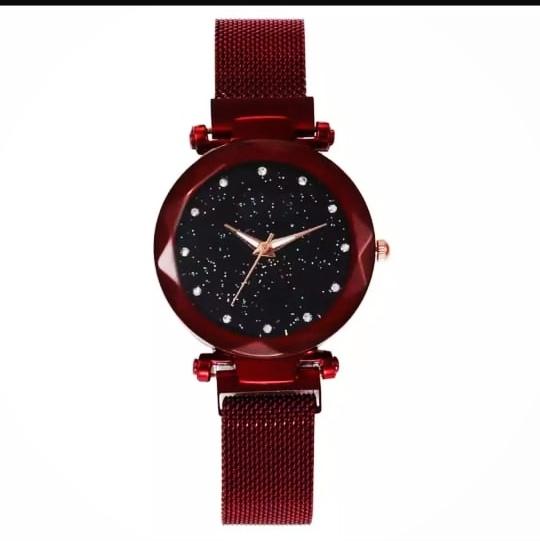 Women Mesh Magnet Buckle Starry Sky Luxury Fashion Watch - 2020 Model - Magnetic Strip - College/Office Girls