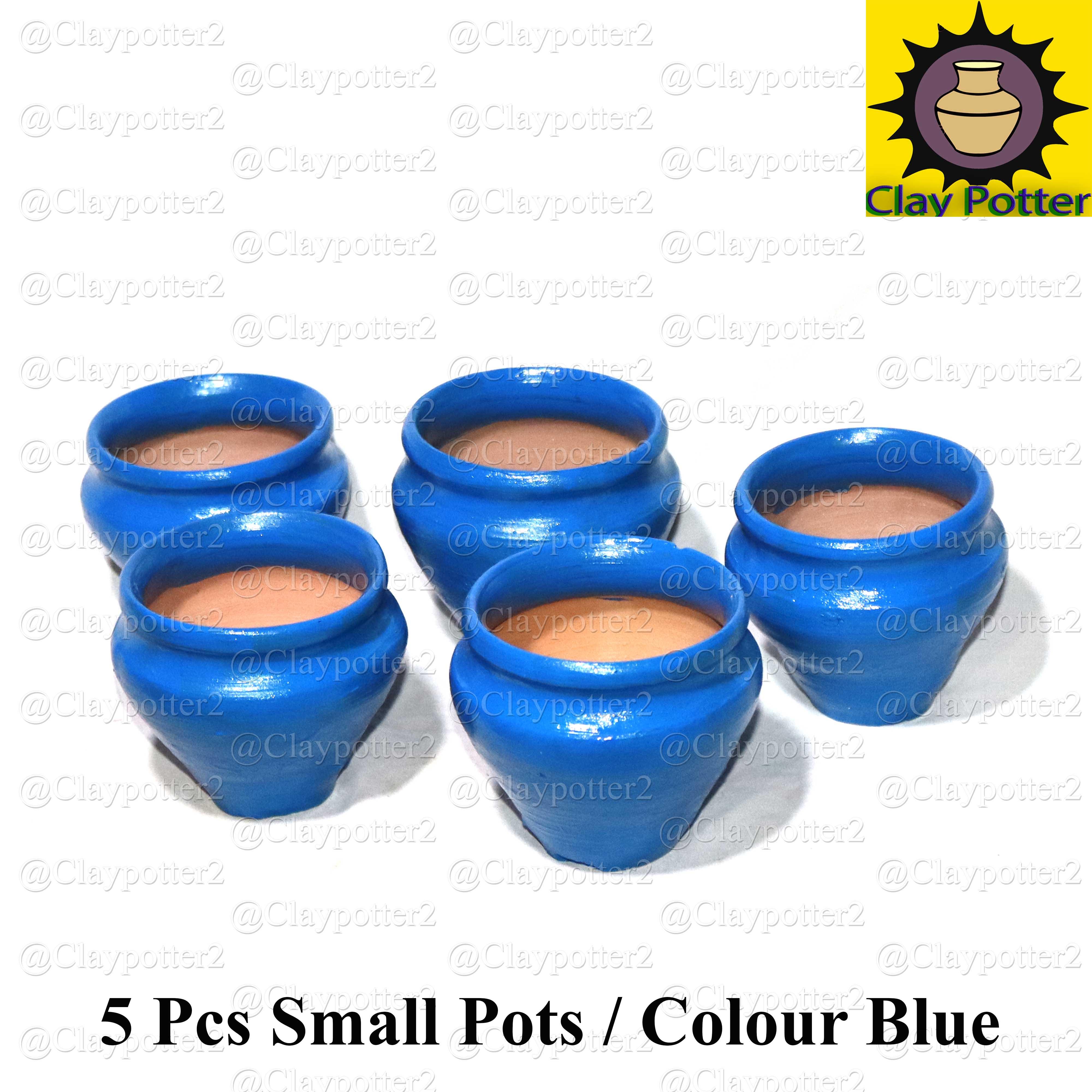 Small Pots 5 Pcs | Flower Pot | Seeding Pot | Home Decor