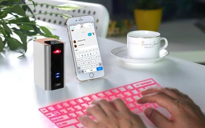 Bluetooth Laser Projection Keyboard with Keyboard Mouse Speaker 3 in 1 for Iphone Ipad Android Smartphone And Tablet
