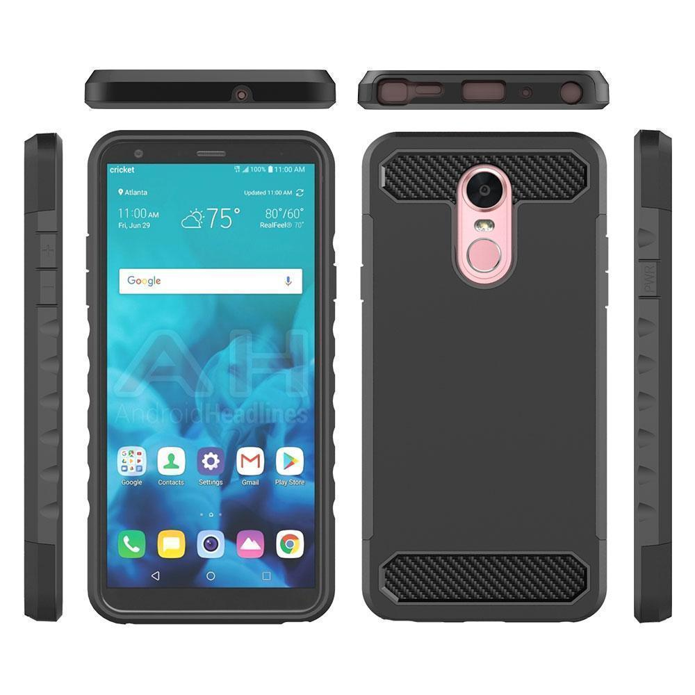 Estima For LG Stylo 4 Anti-scratch PC+ Silicone 2 in 1 Protective Cover  Back Case Style:LG Stylo 4