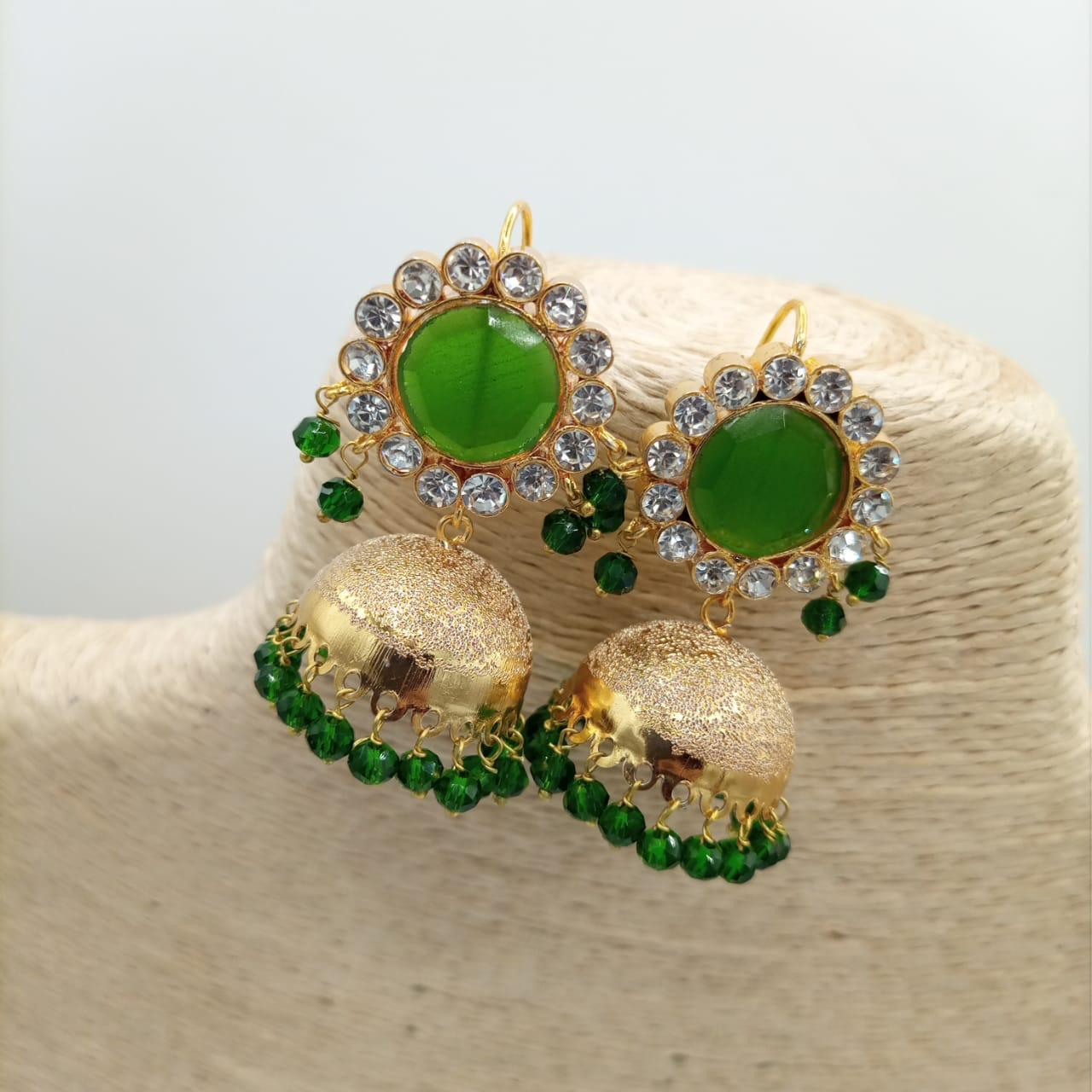 Trendy Design Drop Pearls Fancy Jhumka Earrings For Women - Fashion Infinity